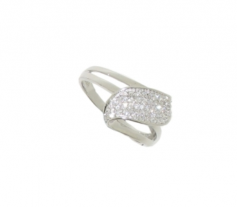 STERLING SILVER MICRO PAVE RING.