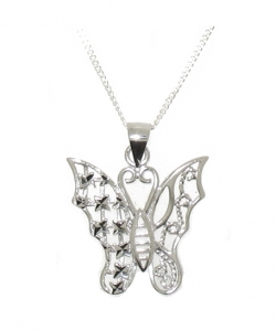 925 STERLING SILVER BUTTERFLY PENDANT.