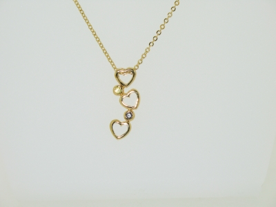 HEARTS DROP PENDANT