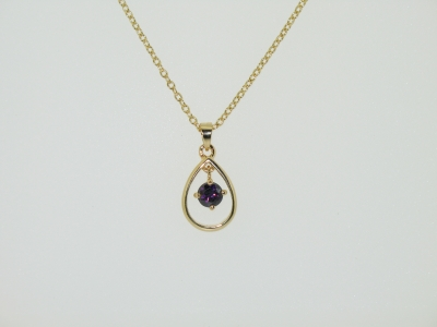 OPEN TEARDROP PENDANT