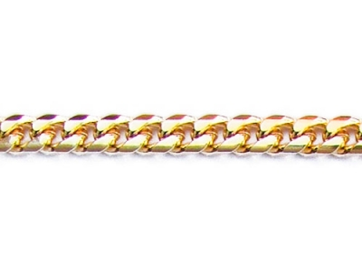 DIAMOND CUT CURB CHAIN.