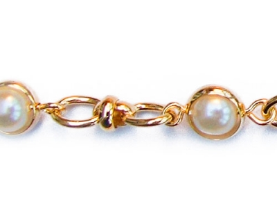 SWIVEL PEARL CHAIN