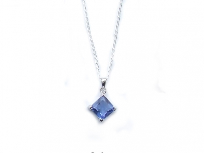 925 CZ PENDANT AND CHAIN.