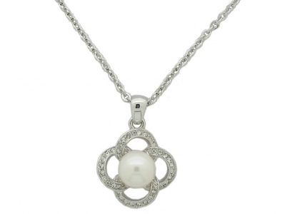 RHODIUM PLATED NECKLACE